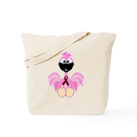 Burgundy Awareness Ribbon Flamingo Tote Bag