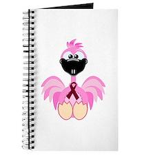 Burgundy Awareness Ribbon Flamingo Journal