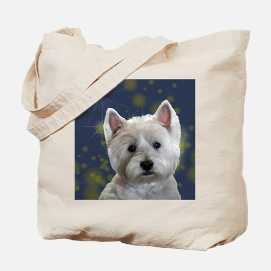 Cute West highland white terrier Tote Bag