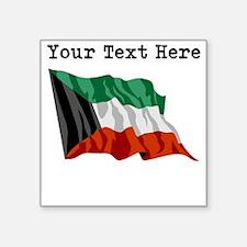 Custom Kuwait Flag Sticker