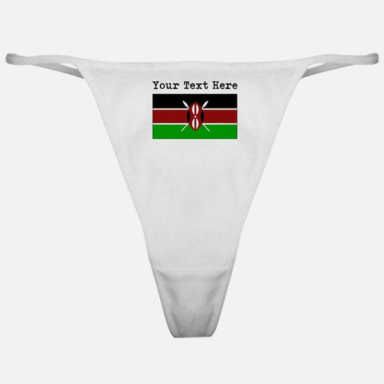 Custom Kenya Flag Classic Thong