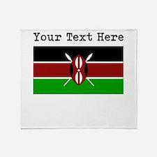 Custom Kenya Flag Throw Blanket