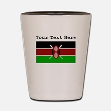 Custom Kenya Flag Shot Glass