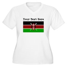 Custom Kenya Flag Plus Size T-Shirt