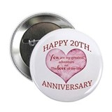 20th wedding anniversary Buttons