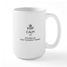 Keep calm by focusing on Teddy Roosevelt Terr Mugs
