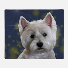 Cute West highland terrier Throw Blanket