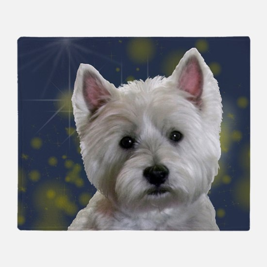 Cute West highland white terrier Throw Blanket