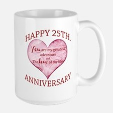 25th. Anniversary Large Mug