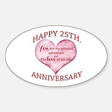 25th. Anniversary Decal