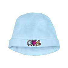 Peace-Love-Pussycats baby hat