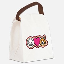 Peace-Love-Pussycats Canvas Lunch Bag