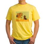 Sunflowres / Dachshund Yellow T-Shirt