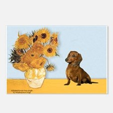 Sunflowres / Dachshund Postcards (Package of 8)
