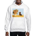 Sunflowres / Dachshund Hooded Sweatshirt