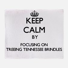 Keep calm by focusing on Treeing Ten Throw Blanket