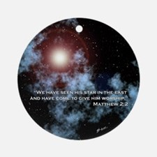 Matthew 2:2 Star of Christmas Round Ornament