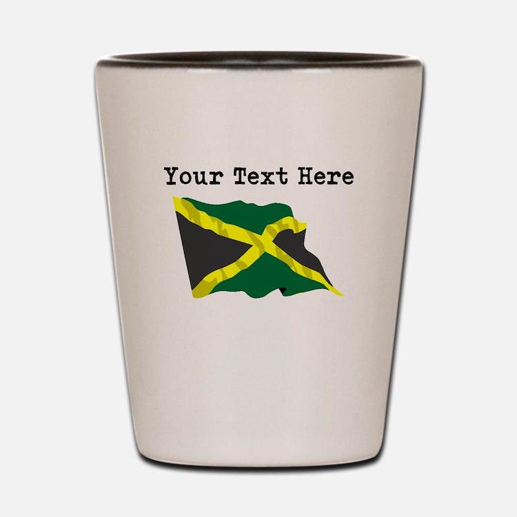 Custom Jamaica Flag Shot Glass