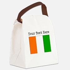 Custom Ivory Coast Flag Canvas Lunch Bag