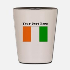 Custom Ivory Coast Flag Shot Glass