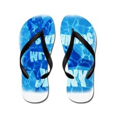 Swimming with Jenny Flip Flops
