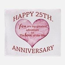 25th. Anniversary Throw Blanket