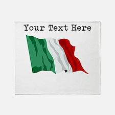 Custom Italy Flag Throw Blanket