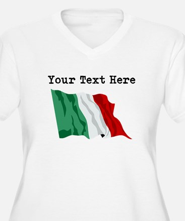 Custom Italy Flag Plus Size T-Shirt