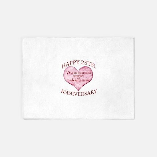 25th. Anniversary 5'x7'Area Rug