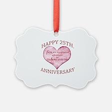 25th. Anniversary Ornament