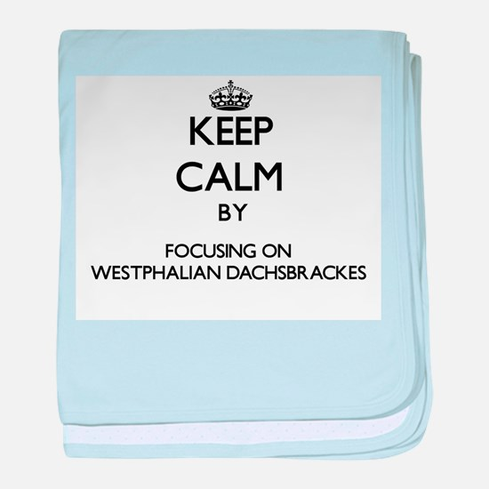Keep calm by focusing on Westphalian baby blanket