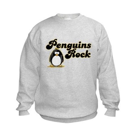 Penguins Rock Kids Sweatshirt