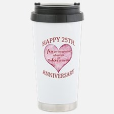 25th. Anniversary Travel Mug