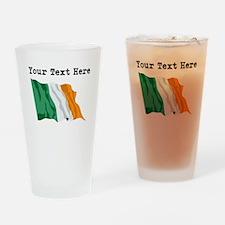 Custom Ireland Flag Drinking Glass