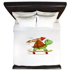 Rocket Propelled Tortoise King Duvet