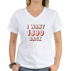 1890 Census Women's V-Neck T-Shirt