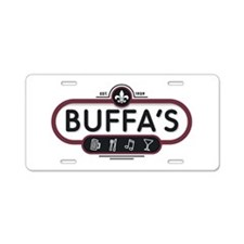 New Buffa's Icon Logo Aluminum License Plate