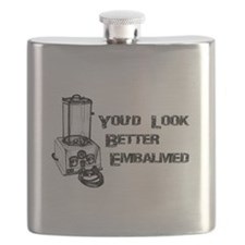 Funny Mortician Flask
