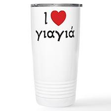 Cute Greek yia yia Travel Mug