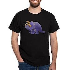 Purple Triceratops Dinosaur T-Shirt