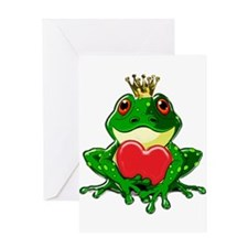 Prince Froggy Greeting Cards