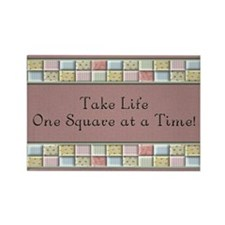 Cute Quilting Rectangle Magnet (10 pack)