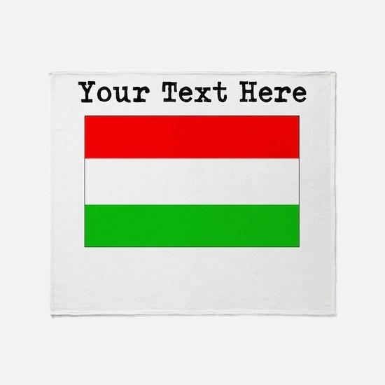 Custom Hungary Flag Throw Blanket