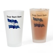 Custom Honduras Flag Drinking Glass