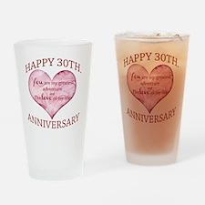 30th. Anniversary Drinking Glass