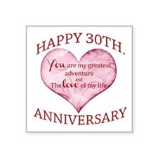 30th. Anniversary Sticker