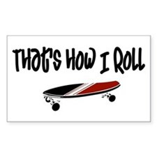 Skateboard Roll Rectangle Decal