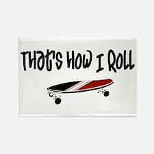 Skateboard Roll Rectangle Magnet