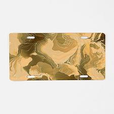 Swirling Desert Camo Aluminum License Plate