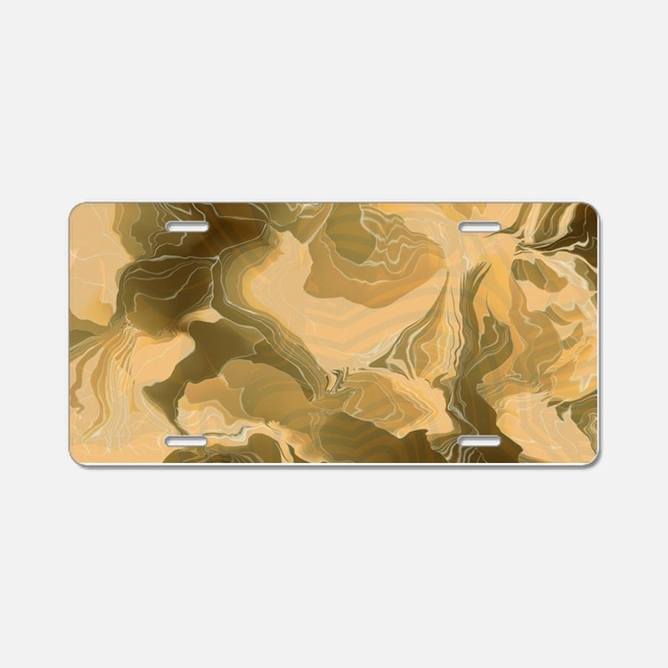 Swirling Desert Camo Aluminum License Plate